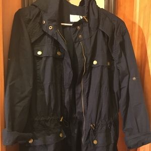 Michael Kors Navy Blue 3 Season Cotton Jacket
